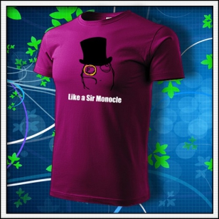 Meme Like a Sir Monocle - fuchsia red