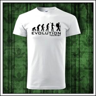 pánske vtipné turistické tričko evolution tourist humorný darček k narodeninám
