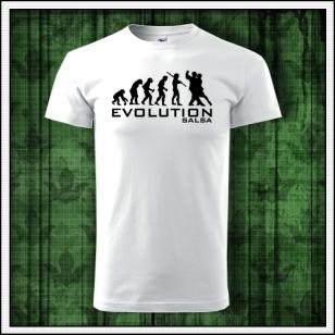 pánske vtipné tanečné tričko evolution salsa humorný darček k narodeninám