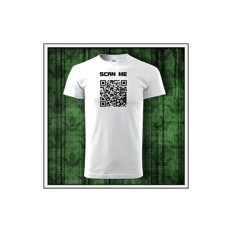 Pánske vtipné tričko QR kód humorný darček