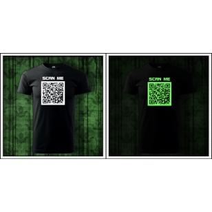 Pánske vtipné svietiace tričká s QR kódom humorné darčeky