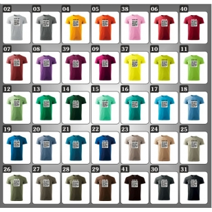 Pánske farebné vtipné tričká QR code humorné darčeky