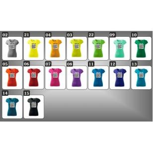 Farebné dámske vtipné tričká QR kód humorné darčeky
