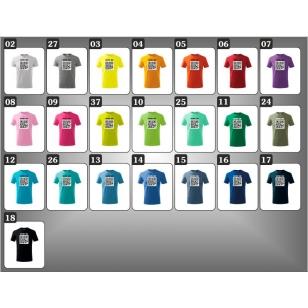 Detské farebné vtipné tričká QR code humorné darčeky pre deti