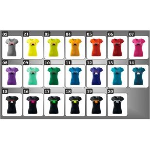 Farebné dámske vtipné tričká s potlačou Mangallica paródiou na skupinu Metallica