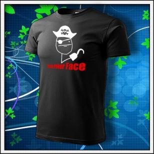 Meme Pirate Poker Face - čierne
