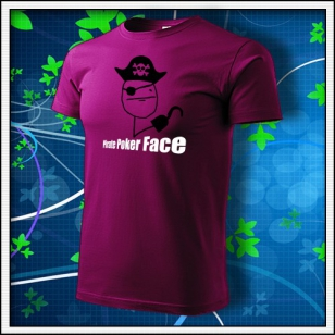 Meme Pirate Poker Face - fuchsia red