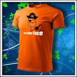 Meme Pirate Poker Face - oranžové