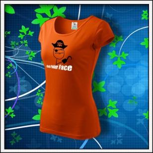 Meme Pirate Poker Face - dámske oranžové