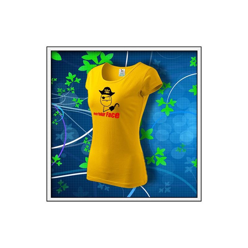 Meme Pirate Poker Face - dámske žlté