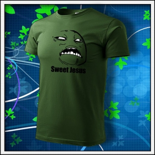 Meme Sweet Jesus - fľaškovozelené