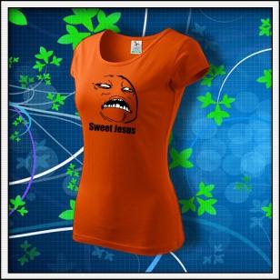 Meme Sweet Jesus - dámske oranžové
