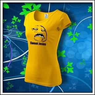 Meme Sweet Jesus - dámske žlté