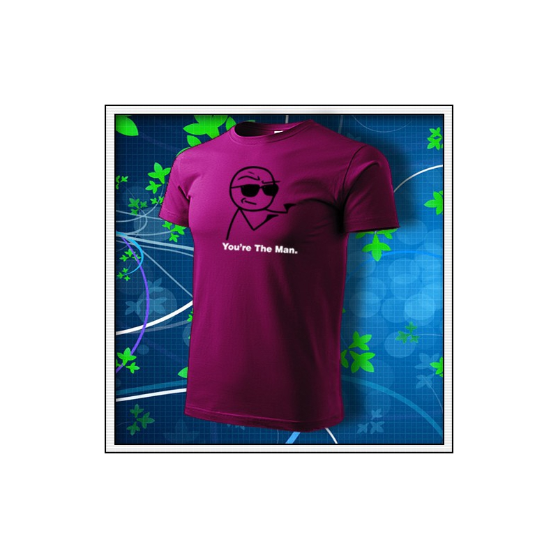 Meme You´re The Man - fuchsia red