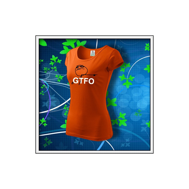 Meme GTFO - dámske oranžové