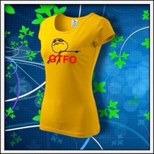 Meme GTFO - dámske žlté