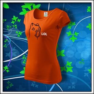 Meme Cat Lol - dámske oranžové
