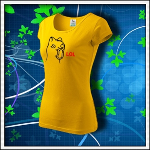Meme Cat Lol - dámske žlté