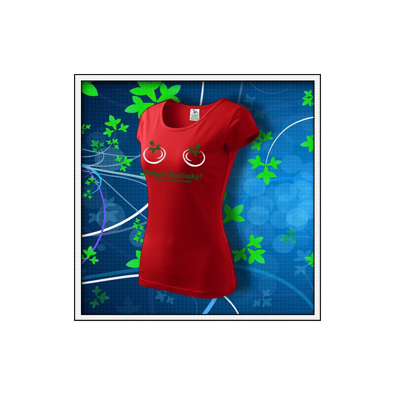 Pekné Rajčinky - dámske červené