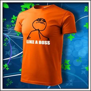 Meme Like a Boss - oranžové