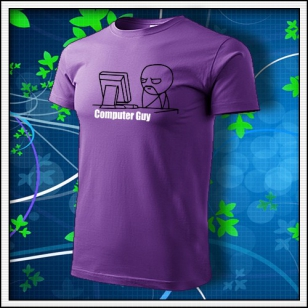 Meme Computer Guy - fialové