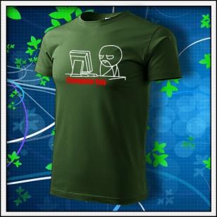 Meme Computer Guy - fľaškovozelené