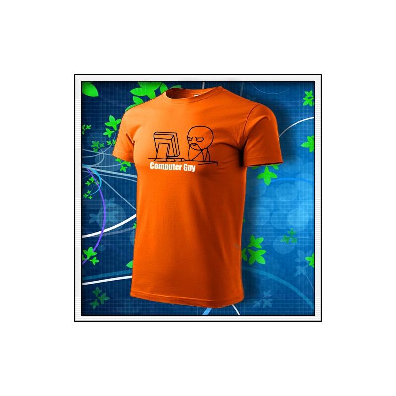Meme Computer Guy - oranžové
