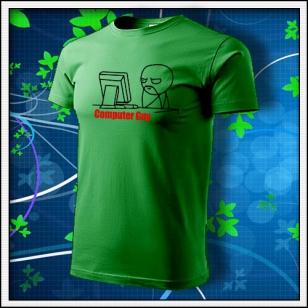 Meme Computer Guy - trávovozelené