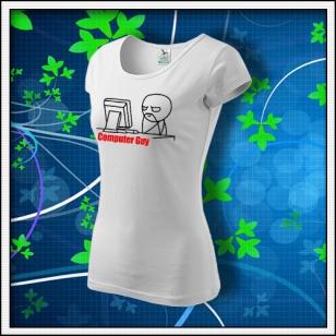 Meme Computer Guy - dámske biele
