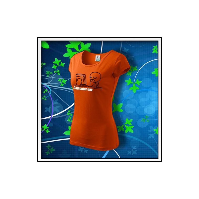 Meme Computer Guy - dámske oranžové