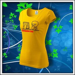 Meme Computer Guy - dámske žlté