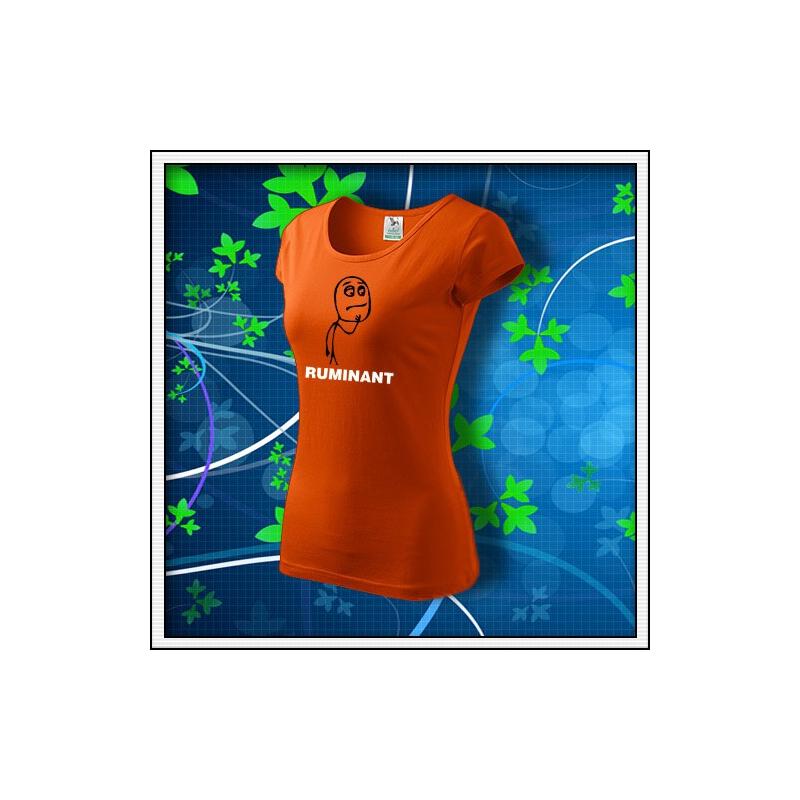 Meme Ruminant - dámske oranžové