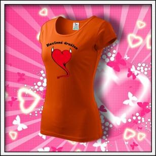 Nevinná dračica - dámske oranžové