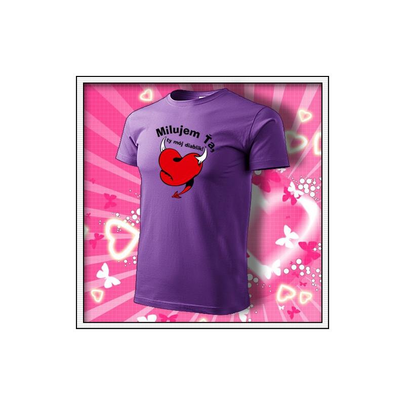 Milujem Ťa - fialové