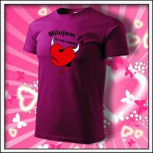 Milujem Ťa - fuchsia red