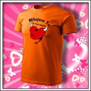 Milujem Ťa - oranžové