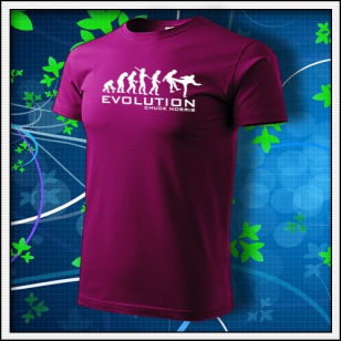Evolution Chuck Norris - fuchsia red