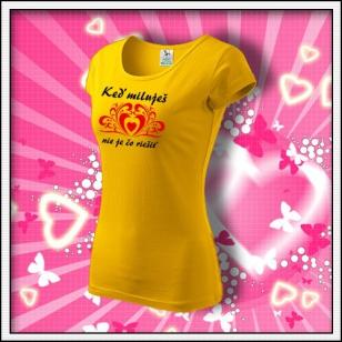 Keď miluješ - dámske žlté