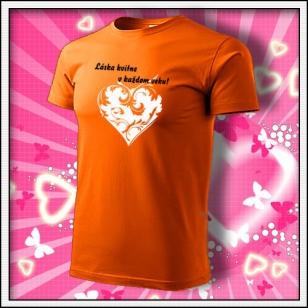 Láska kvitne - oranžové