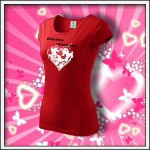 Láska kvitne - dámske červené