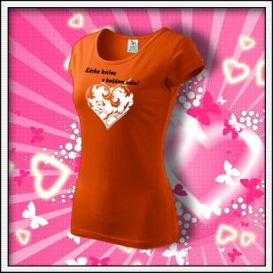 Láska kvitne - dámske oranžové