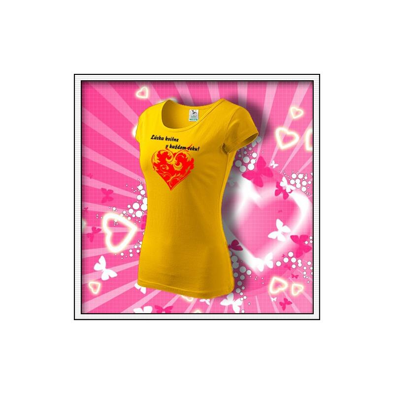 Láska kvitne - dámske žlté