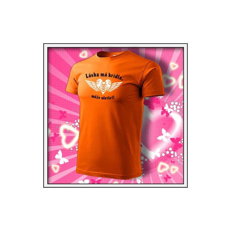 Láska má krídla - oranžové