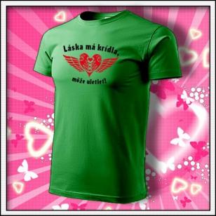 Láska má krídla - trávovozelené