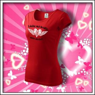Láska má krídla - dámske červené