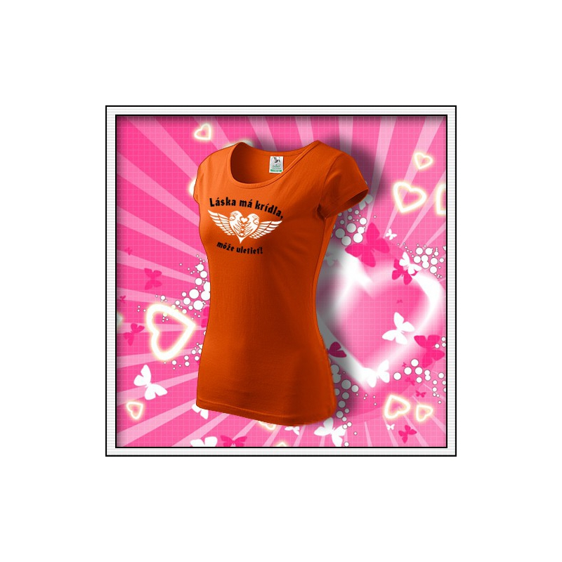 Láska má krídla - dámske oranžové