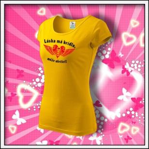 Láska má krídla - dámske žlté