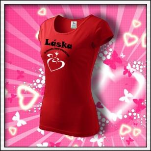 Láska je choroba - dámske červené