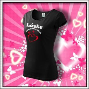 Láska je choroba - dámske čierne