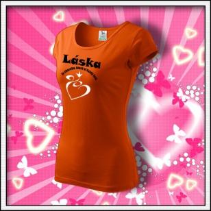 Láska je choroba - dámske oranžové
